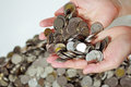 Money in the hand photo of Stock Photography