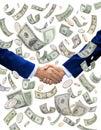 Money Handshake Deal Investors Royalty Free Stock Photos