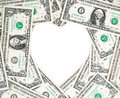 Money heart Royalty Free Stock Photo