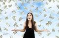 Money from Heaven Royalty Free Stock Photo