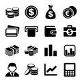 Money icon set and coin vector illustration Royalty Free Stock Images