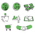 Money icon set + vector Stock Images
