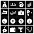 Money icon set vector illustration eps Royalty Free Stock Image