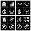 Money icon set vector illustration eps Royalty Free Stock Photos