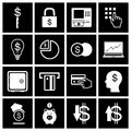 Money icon set vector illustration eps Stock Photos