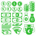 Money icon set vector illustration eps Royalty Free Stock Images
