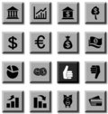 MOney icons. Stock Image