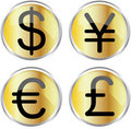 Money icons Stock Photo