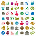 Money icons isolated on white background vector set, finance the Royalty Free Stock Photo