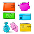 Money Icons. Vector Business Symbols. Royalty Free Stock Photo