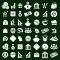 Money icons vector set, finance theme simplistic symbols vector Royalty Free Stock Photo