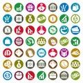 Money icons vector set, finance theme symbols Royalty Free Stock Photo