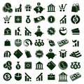 Money icons  on white background vector set, finance the Royalty Free Stock Photo