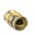 Money image of rolls of dollars on white background Royalty Free Stock Image