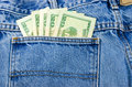 Money In Jean Pocket