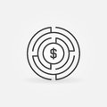 Money labyrinth concept icon Royalty Free Stock Photo