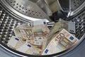 Money laundering concept Royalty Free Stock Photo