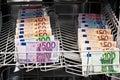Money laundering in the dishwasher Royalty Free Stock Photo