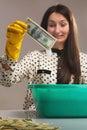Money laundering (illegal cash, dollars bill, shady money, corru Royalty Free Stock Photo