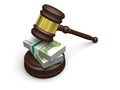 Money in law justice concept of high legal fees corruption of financial Royalty Free Stock Photography