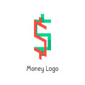 Money logotype with colored dollar sign