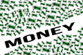 Money lots of draw bills on a concept illustration Royalty Free Stock Photography