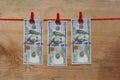 Money loundering concept - One hundred dollars - 100 Dollar Royalty Free Stock Photo