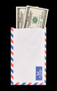 Money in the Mail Royalty Free Stock Photo