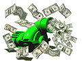 Money making machine flying out of a wealth building financial planning Royalty Free Stock Images
