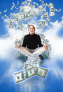 Money man winning Royalty Free Stock Photo