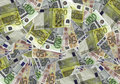 Money many of lying beautiful euro bills Stock Photography