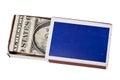 Money in matchbox Stock Photo