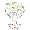Money meditation Royalty Free Stock Photo