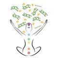 Money meditation Royalty Free Stock Photo