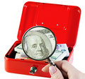 Money in a moneybox Stock Image