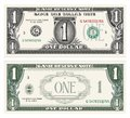 One dollar note Royalty Free Stock Photo
