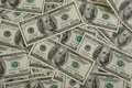 Money one hundred dollars pile as background Stock Image