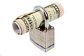 Money and a padlock Royalty Free Stock Photo