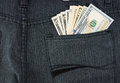 Money in pant pocket the Stock Images