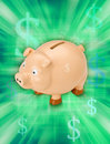 Money Piggy Bank Royalty Free Stock Photos