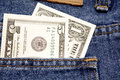 Money in pocket Royalty Free Stock Photo