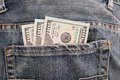 Money in pocket cash my the new u s dollar bill Royalty Free Stock Image