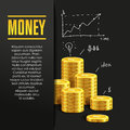 Money poster or banner design template. Royalty Free Stock Photo
