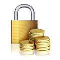 Money is protected the concept of a financial security Royalty Free Stock Image