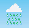 Money rain drops dollar sign from cloud Royalty Free Stock Images