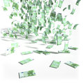 Money rain of 100 Euro bills Royalty Free Stock Photo