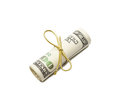 Money roll gift Stock Image