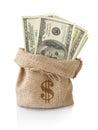 Money in the sack