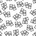Money seamless pattern background icon. Flat vector illustration