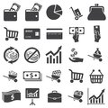 Money set icon on white background Royalty Free Stock Photo